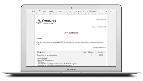 rédaction documents entreprise